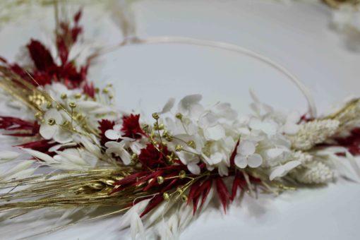 Kit couronne Noël fleurs séchées stabilisées