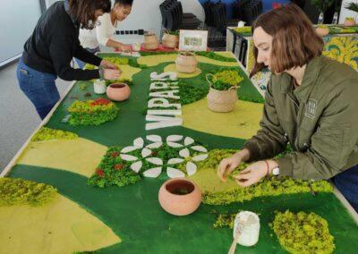 Atelier fresque géante végétale