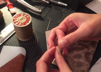 atelier diy maroquinerie point sellier