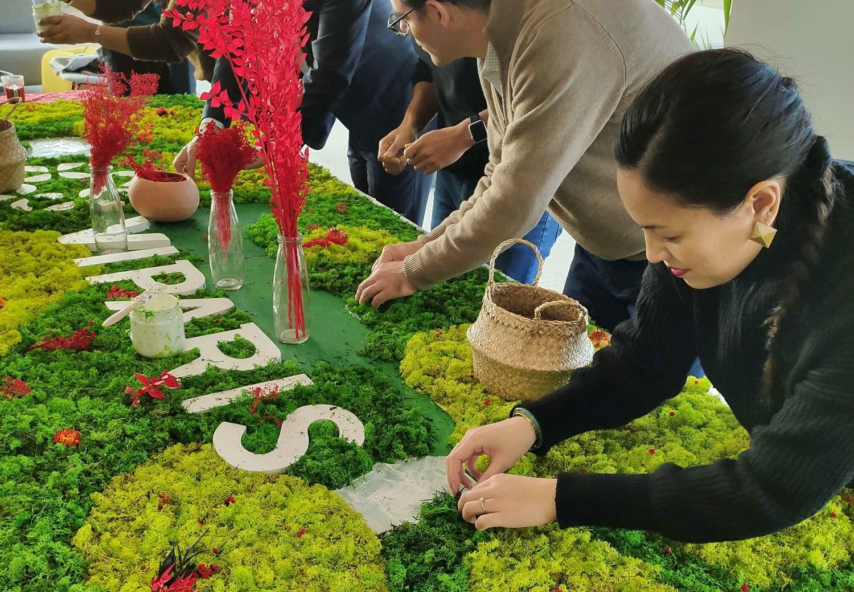 atelier fresque végétale collaborative